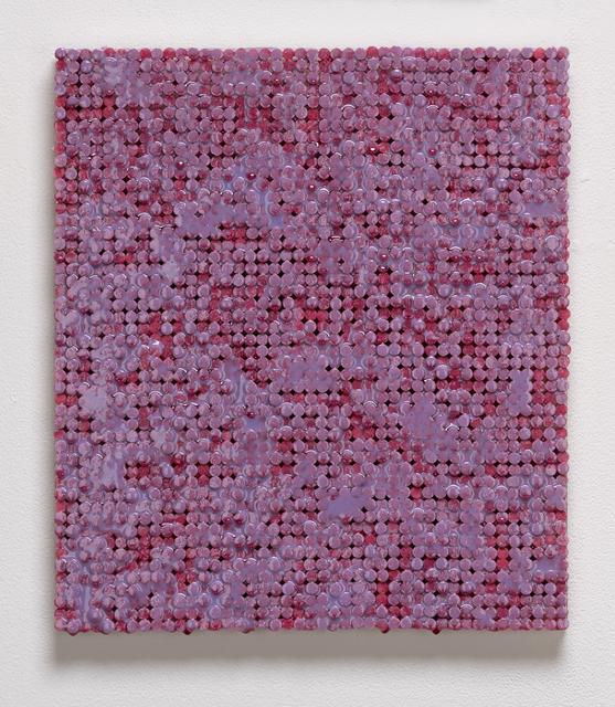 , 'Red and Purple Static,' 2018-2019, Elizabeth Leach Gallery