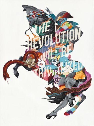 Tristan Eaton, 'THE REVOLUTION WILL BE TRIVIALIZED (SILVER EDITION)', 2017, Marcel Katz Art