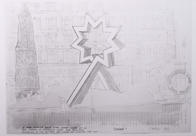 , 'Photograph of a drawing for 'Starhead' project for Charing Cross station, London,' 1986, Whitechapel Gallery