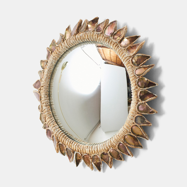 """, '""""Pink Thistle"""" Mirror by Line Vautrin,' 1955-1965, Almond & Co."""
