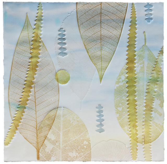 Katherine Warinner, 'Leaves 2', 2019, Print, Relief monotype, Kala Art Institute