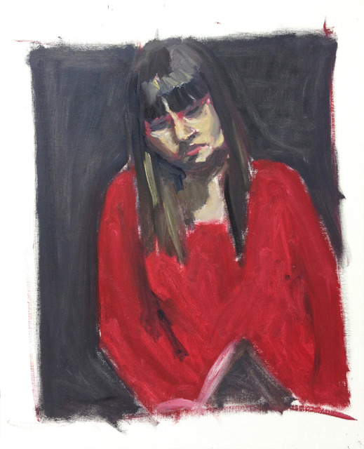, 'Angèle pull rouge fond noir,' 2013, Eric Dupont
