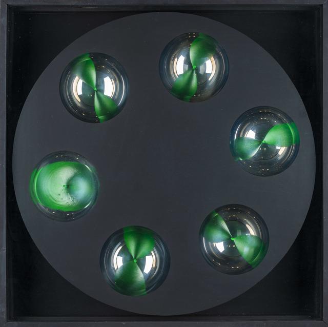 Franco Costalonga, 'Rotante cromocinetico', 1974, Mixed Media, Assembly, 6 hemispheres on board, electric motor, Martini Studio d'Arte