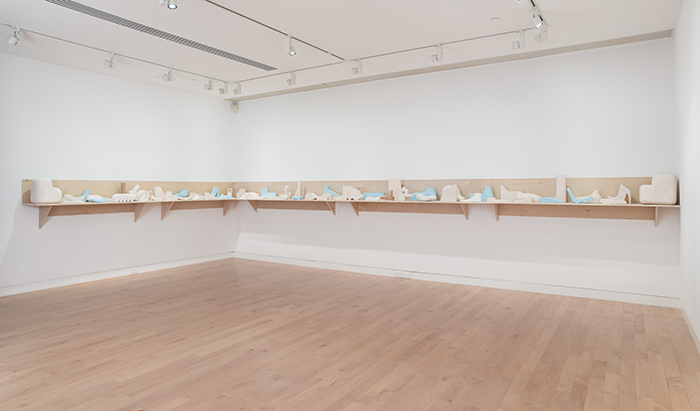 Richard McGuire: The Way There and Back (installation view), May 20, 2018 to January 13, 2019. The Aldrich Contemporary Art Museum, Ridgefield, CT. Photo: Jason Mandella.