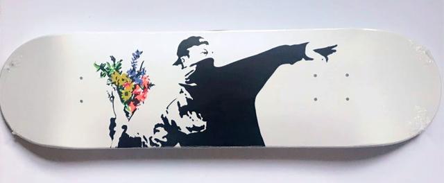 Banksy, 'Flower Bomber Skate Deck', 2018, Alpha 137 Gallery