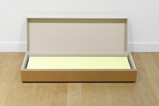, 'Peinture écrin, jaune éblouissant,' 2015, Galerie Jocelyn Wolff