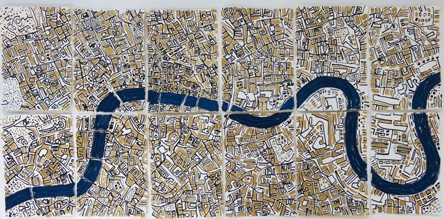 , 'Gold London,' 2017, Rebecca Hossack Art Gallery