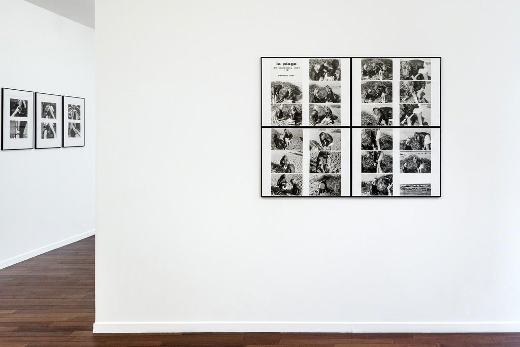 """Exhibition view of """"Cinématographies"""" by Paul Armand Gette. - """"La Plage"""" 1971. Photo credit: Charles Duprat"""