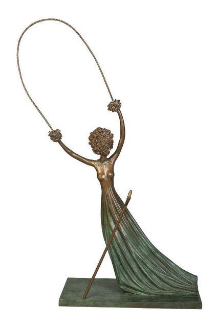 Salvador Dalí, 'Alice au Pays des Merveilles', 1977-1984, Sculpture, Bronze with blue-green patina, Roseberys