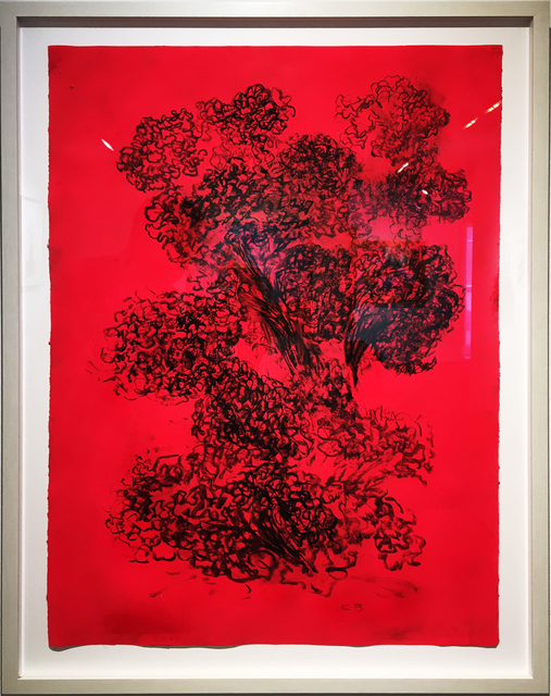 Carol Benson, 'Celosia VI', 2020, Drawing, Collage or other Work on Paper, Water base, paint, charcoal on paper, William Campbell Contemporary Art Inc