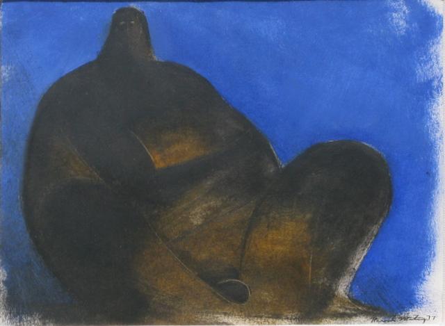 , 'Sin título (Hombre en fondo azul),' 1977, Galeria Oscar Roman