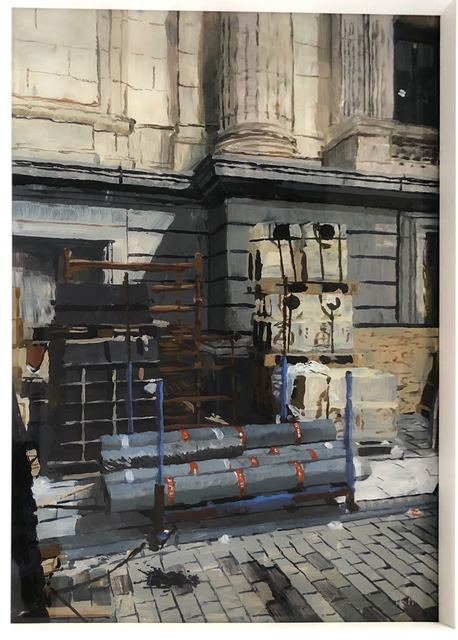 Isabella Kuijers, 'Building site, Brussels', 2019, Painting, Acrylic on glass, 99 Loop Gallery