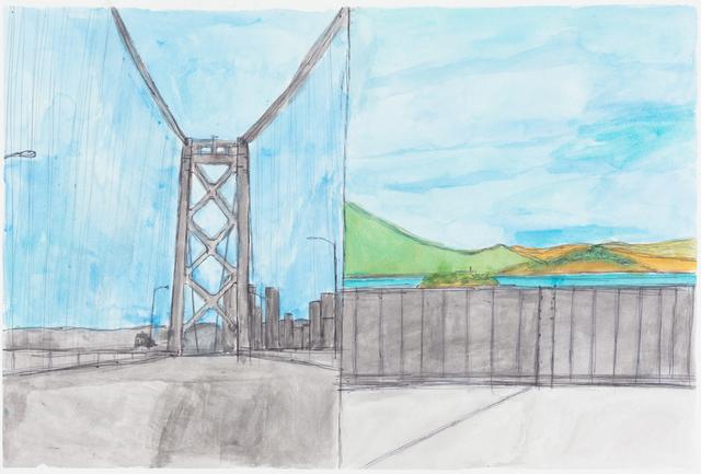 , 'Bay Bridge Landscape,' 2015, Creativity Explored