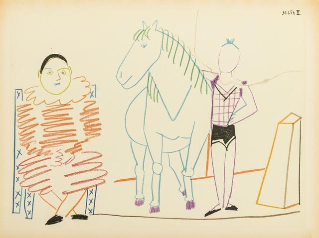 Pablo Picasso, 'Verve: Volume VIII, 29-30. Suite De 180 Dessins De Picasso (not in Cramer)', 1954, Print, Lithographs printed in colours and monochrome heliographic prints, Forum Auctions