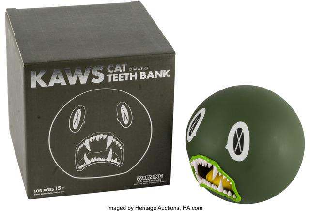 KAWS, 'Cat Teeth Bank (Green)', Heritage Auctions