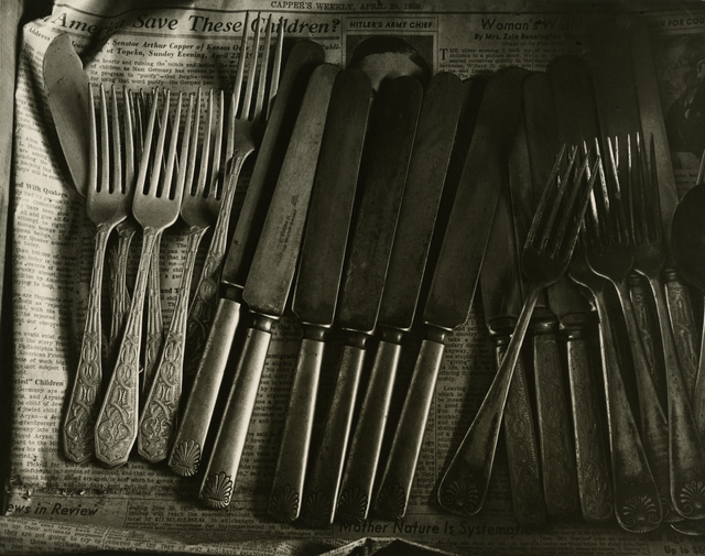 , 'Drawer with Silverware, Home Place,' 1947, Deborah Bell Photographs