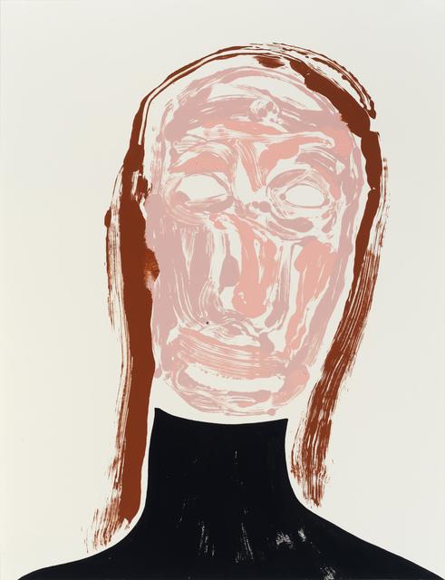 Nicola Tyson, 'Self-Portrait: Tired (black turtle neck)', 2017, Sadie Coles HQ