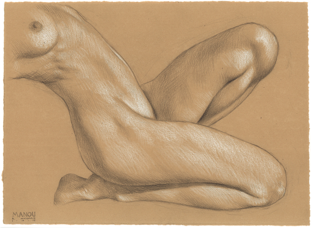 , 'Manou Crouching, Leaning Back,' 2018, Jenn Singer Gallery