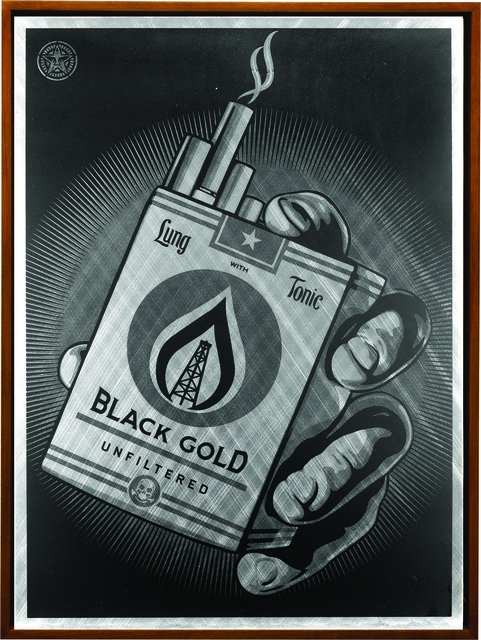 Shepard Fairey, 'Black Gold', 2015, Underdogs Gallery