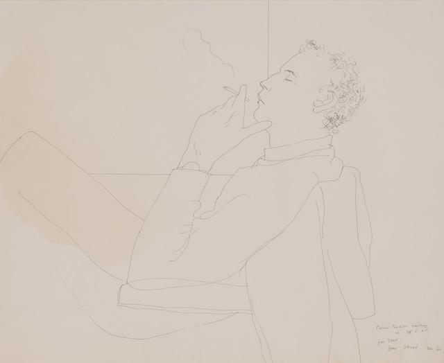 David Hockney, 'Patrick Proctor Smoking', 1966, Doyle