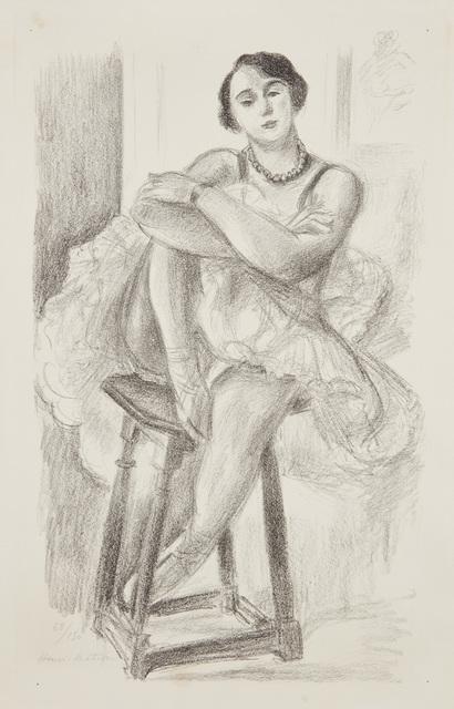 Henri Matisse, 'Danseuse au tabouret, from Dix danseuses (Dancer on Stool, from Ten Dancers)', 1925-26, Phillips