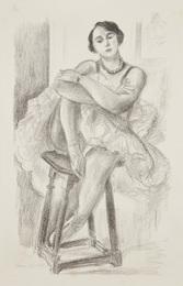 Danseuse au tabouret, from Dix danseuses (Dancer on Stool, from Ten Dancers)