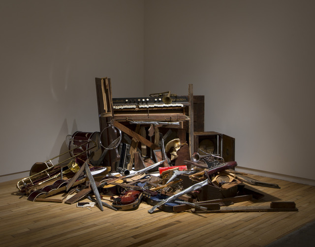 , 'After the Revival (Vox Humana III: The Strength of Music Lives After the Instruments Are Destroyed),' 2017, MASS MoCA
