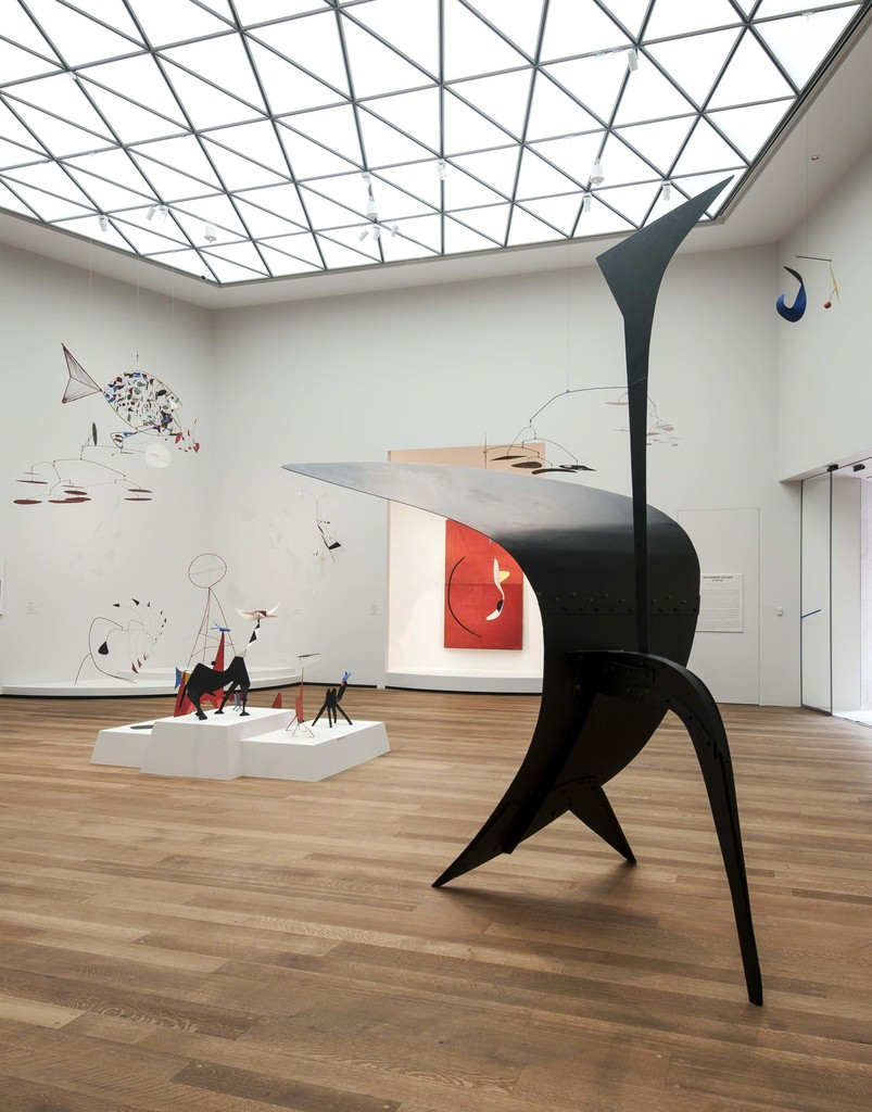"Installation view, ""Calder in the Tower,"" National Gallery of Art, Washington, D.C., 2016. Image courtesy National Gallery of Art. Photographer: Rob Shelley."