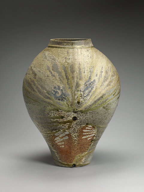 Meg Beaudoin, 'Tiger Vase', 2017, Sculpture, Stoneware, sea shells, natural ash glaze, Wheel thrown, anagama wood fired on sea shells, multiple firings, 7 and 4 day, Cavin-Morris Gallery