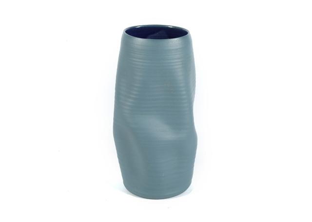 Nicholas Arroyave-Portella, 'Contemporary studio pottery vase', Design/Decorative Art, Irregular form, with slate blue matte glaze exterior and dark blue smooth glaze interior, Chiswick Auctions