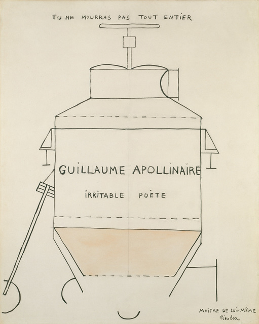 Francis Picabia, 'Guillaume Apollinaire', vers 1918, Galerie Natalie Seroussi