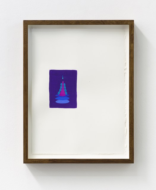 Matthew Ronay, '02.27.14', 2014, Drawing, Collage or other Work on Paper, Gouache on 140lb arches watercolor paper, Nils Stærk