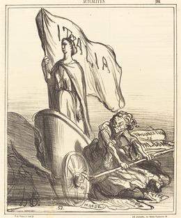 Honoré Daumier, 'La Presse réactionnaire cherchant en vain...', 1866, National Gallery of Art, Washington, D.C.