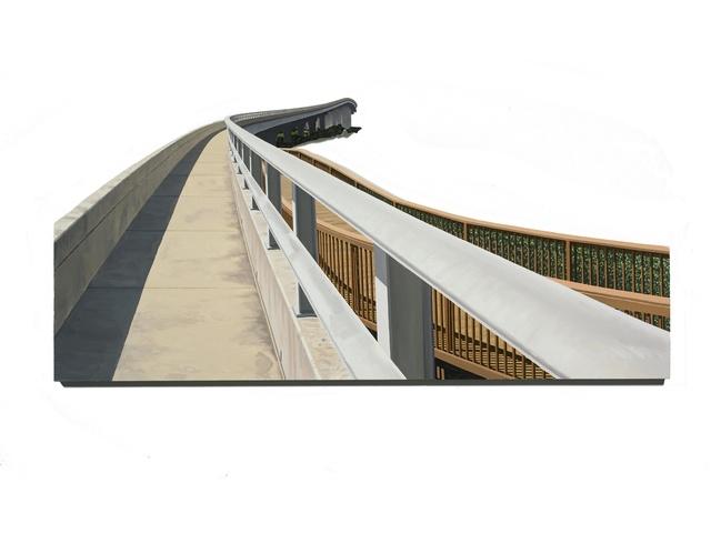 , 'sidewalk and nature viewing patform, bridge to St. Augustine,' 2016, Miller Yezerski Gallery
