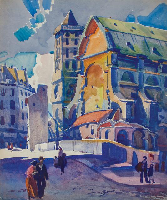 , 'Church in Old Paris,' 1926, WOLFS
