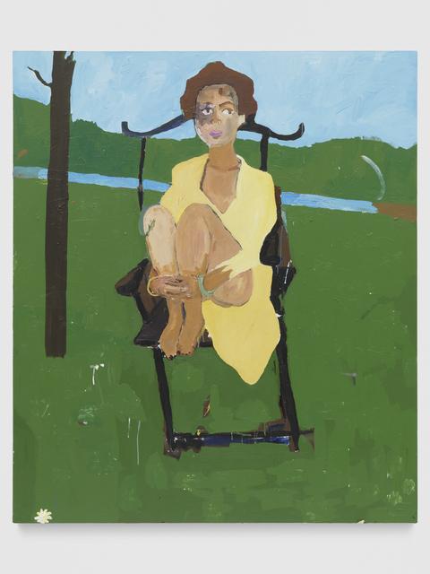 , 'Cassi in a field,' 2017, Galerie Eva Presenhuber