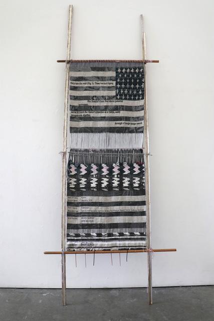 , 'Loom with Textile (After Asdzáá Tl'ógí),' 2018, Eleanor Harwood Gallery