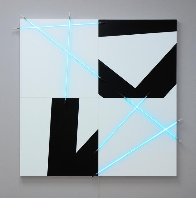 , '5 lignes au hasard (π) en peinture et en néon n°10,' 2013, Gallery Hyundai