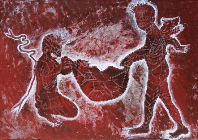 Jose Angel Santiago, 'Hombres rojos de Juchitán', 2018, Galería Quetzalli