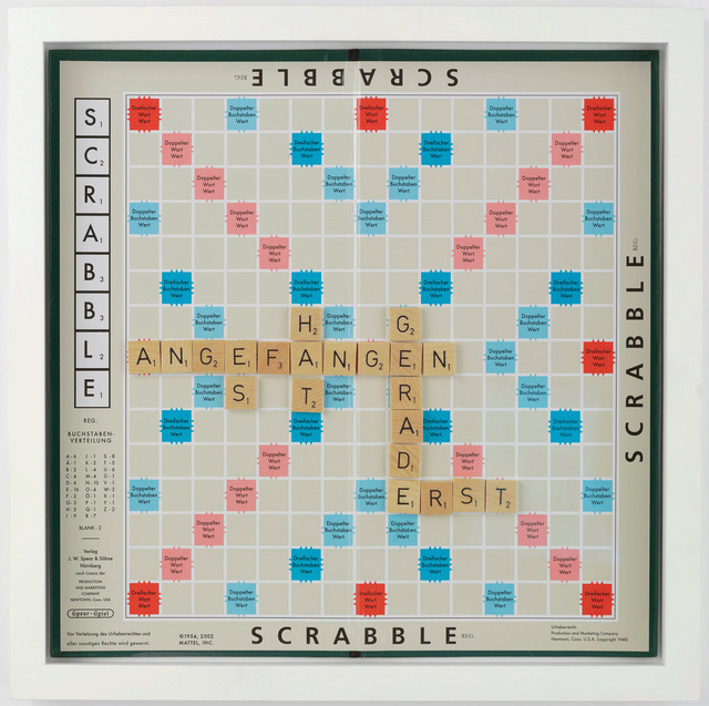 , 'A game for two players or more (Es hat gerade erst angefangen),' 2009, Gagosian