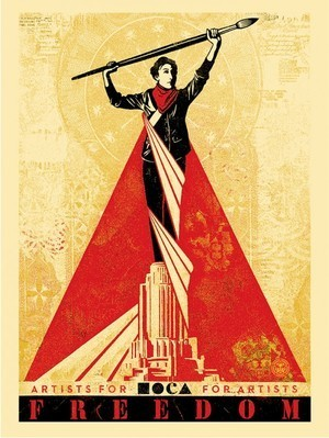 Shepard Fairey (OBEY), 'Artists for Freedom', Reem Gallery