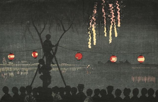 , 'Fireworks at Ikenohata,' ca. 1881, Scholten Japanese Art