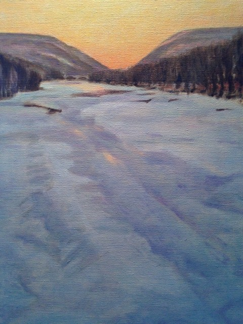 , 'Late Winter Afternoon on the Delaware,' 2016, Hal Bromm