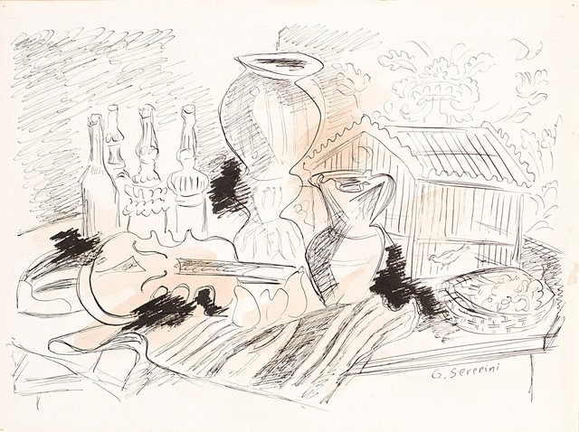 Gino Severini, 'Study per Natura Morta con gabbia verde', 1942, Finarte