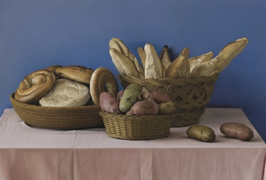 Still Life with Bread and Potatoes