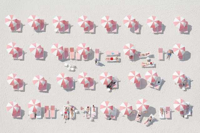 , 'Pink Umbrellas ,' 2014, Think + Feel Contemporary