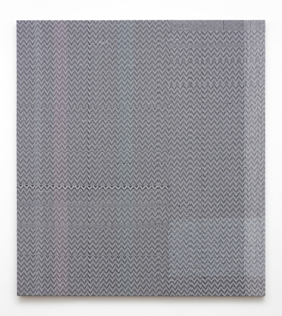 , 'Shadow Weave Black (13) + White (14) Cotton 15 EPI,' 2014, PRAZ-DELAVALLADE
