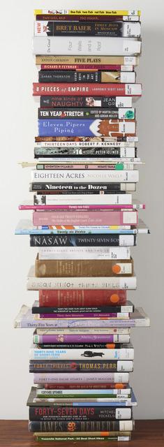 , '50 Library Books,' 2014/2018, Catharine Clark Gallery