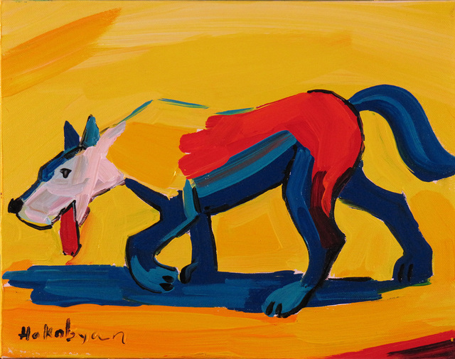 Harout Hakobyan, 'Coyote', ca. 2000, Painting, Oil on Canvas, Janus Galleries