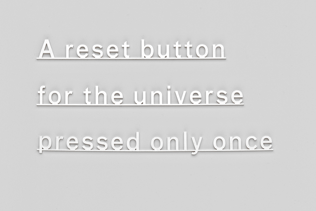 Katie Paterson, 'Ideas (A reset button for the universe pressed only once)', 2014, Parafin